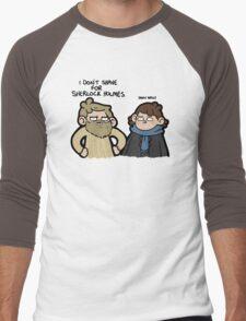 I Don't Shave for Sherlock Holmes Men's Baseball ¾ T-Shirt