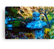 Japanese Painted Garden Canvas Print
