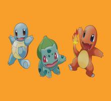 Pokemon starters by francy94