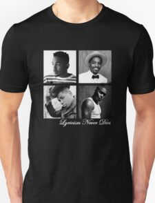Lyricism Never Dies in Darker Colors Unisex T-Shirt