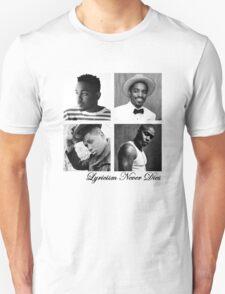 Lyricism Never Dies in Lighter Colors Unisex T-Shirt