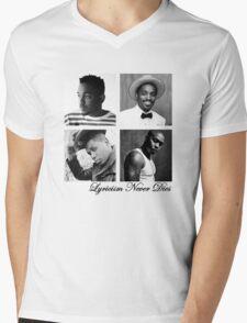 Lyricism Never Dies in Lighter Colors Mens V-Neck T-Shirt