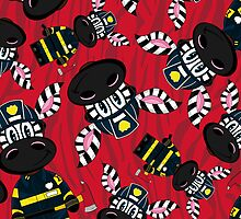Zebra Fireman Pattern by MurphyCreative