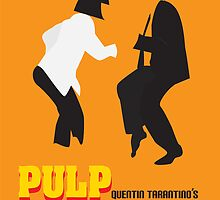 Pulp Fiction Minimal Poster by anabalderramas