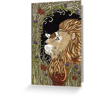 The Lion and the Mouse (Colour) Greeting Card