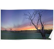 New Years Eve Sunset  Poster
