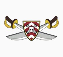 Pirate Swords & Shields Kids Tee