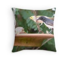 So many native birds queuing for water! Hot New Years Day. S.Aust. Throw Pillow