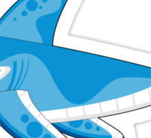 Shark Pattern Sticker