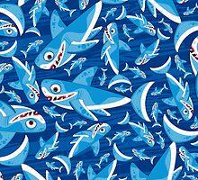 Shark Pattern by MurphyCreative