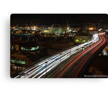 Genova - Strada sopraelevata Aldo Moro Canvas Print