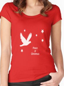 Peace At Christmas Greeting Women's Fitted Scoop T-Shirt