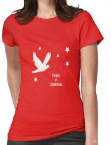 Peace At Christmas Greeting Womens Fitted T-Shirt