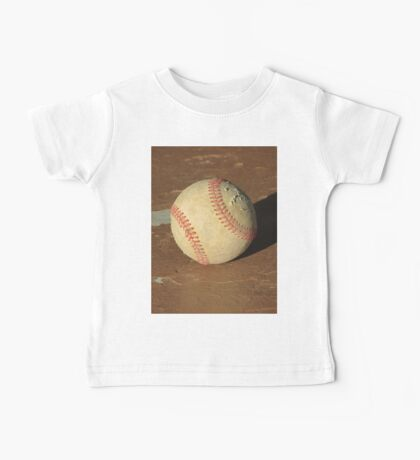 Scuffed Baseball on a Scuffed Picnic Table Baby Tee