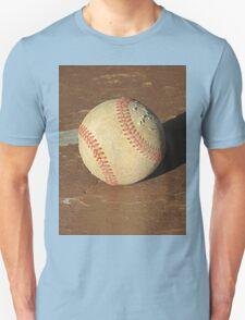 Scuffed Baseball on a Scuffed Picnic Table Unisex T-Shirt