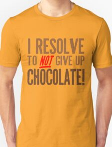 Chocolate Resolution Unisex T-Shirt