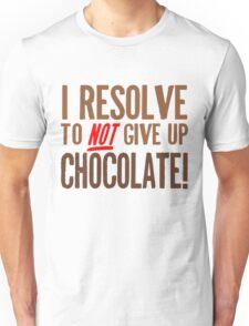 Chocolate Resolution Unisex T-Shirt