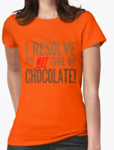Chocolate Resolution Womens Fitted T-Shirt