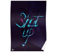 SHUT UP! - Typography Poster