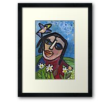 Marguerite - Daisy (card) Framed Print