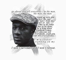 "Aloe Blacc- ""The Man"" Lyrics T-Shirt by tatiananori"