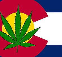 Smartphone Case - State Flag of Colorado - Cannabis Leaf 3 by Mark Podger