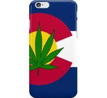 Smartphone Case - State Flag of Colorado - Cannabis Leaf 3 iPhone Case/Skin
