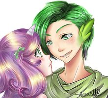 Spike and Sweetie Belle Gijinka by Julie-Solana