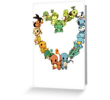All starters!!!  Pokemon  Greeting Card