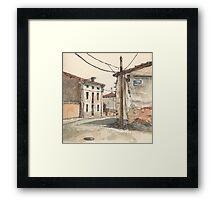 Casas en la carretera Framed Print