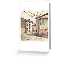 Casas en la carretera Greeting Card
