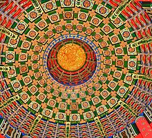 Painted Ceiling in China Pavilion by Gwilanne Carlos