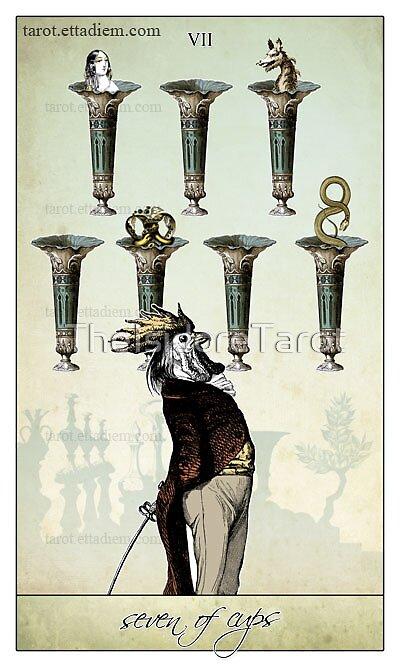 The Minor Arcana - Seven of Cups by TheIsidoreTarot