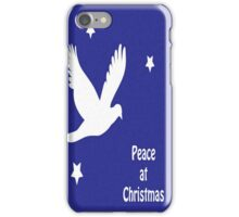 Peace At Christmas Greeting Card iPhone Case/Skin