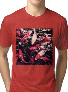 Cool Red Koi Fish in the Water Tri-blend T-Shirt
