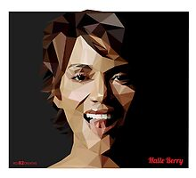 Halle Berry Triangulation Vector by Red82Creative