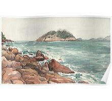 Shek O Beach in Winter Poster