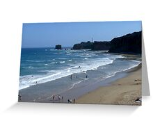 Along The Great Ocean Road Greeting Card