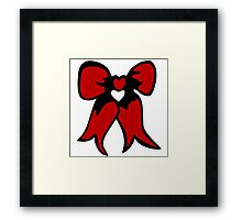 ribbon bow  bowtie Framed Print