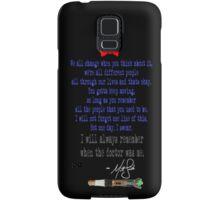 Matt's Final Words Samsung Galaxy Case/Skin