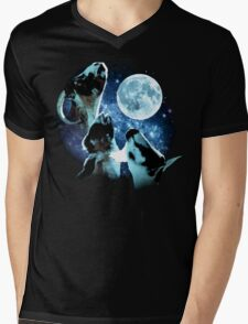 Three Goat Moon Mens V-Neck T-Shirt