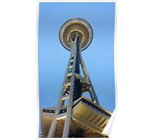 Seattle Space Needle Watercolor Poster
