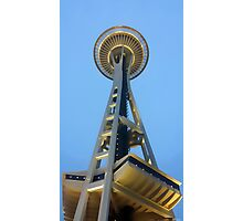 Seattle Space Needle Watercolor Photographic Print