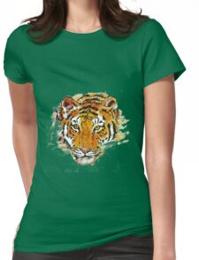 Eye Of The Tiger Womens Fitted T-Shirt