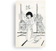 Toshio Saeki - Artwork Canvas Print