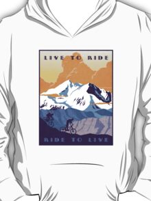 Live to Ride, Ride to Live retro cycling poster T-Shirt