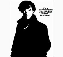 Sherlock- High Functioning Sociopath Mens V-Neck T-Shirt