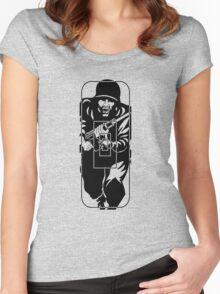Figure 11 Military Gun Range Target Women's Fitted Scoop T-Shirt