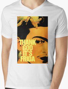 Thanks God It's Frida Mens V-Neck T-Shirt