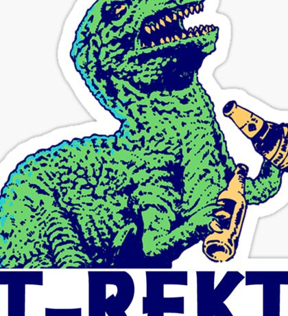 dinosaur is getting wasted Sticker